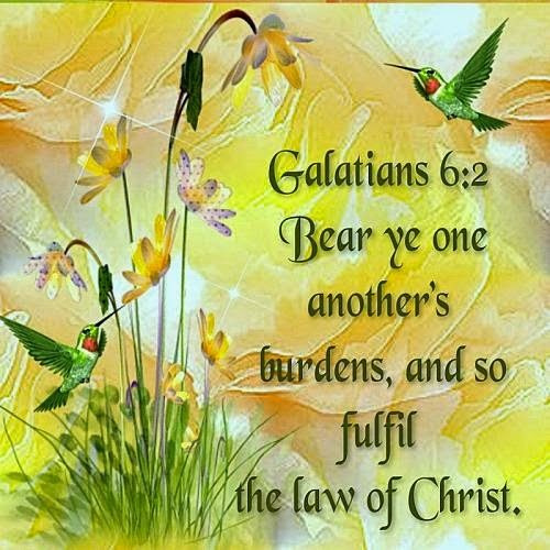 Daily greetings blossom and become beautiful in christ bear each others burdens m4hsunfo